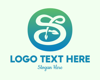 Leaf - Environmental Letter S logo design