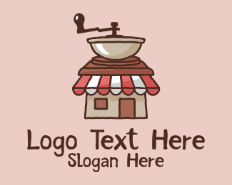 Homemade Coffee - Coffee Grinder Shop  logo design