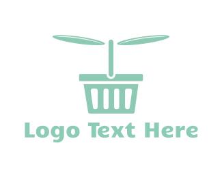 Basket - Flying Basket logo design