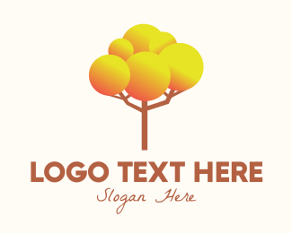 Season - Gradient Autumn Tree logo design