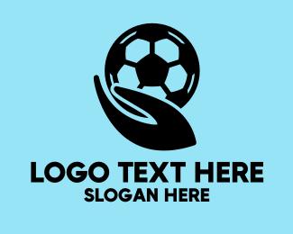 Player - Soccer Player Hand logo design