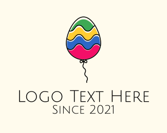 Air Balloon - Cute Multicolor Balloon logo design