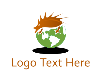 Hedgehog - Hedgehog World logo design