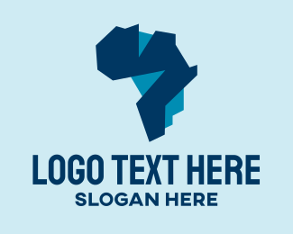 Gps Tracker - Geometric African Map logo design