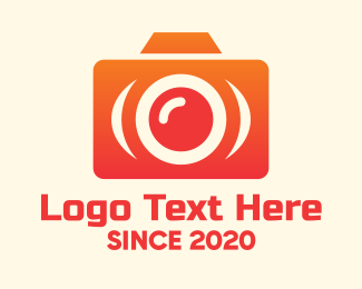 Photograph - Orange Modern Camera logo design