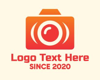 Camera Repair - Orange Modern Camera logo design