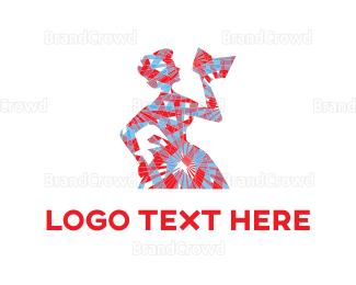 Silhouette - Retro Silhouette logo design