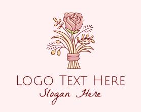 Bouquet - Rose Flower Bouquet logo design