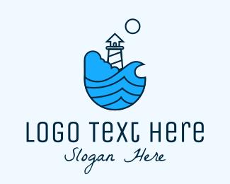 Leadership - Coastal Ocean Lighthouse logo design
