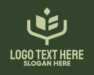 Elf - Simple Angular Plant logo design
