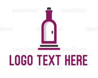 Alcohol - Wine Bottle Cellar Door logo design