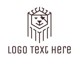 Pirate - Black Pirate Lion logo design
