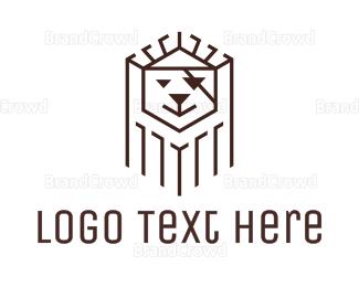 Burning Man - Black Pirate Lion logo design
