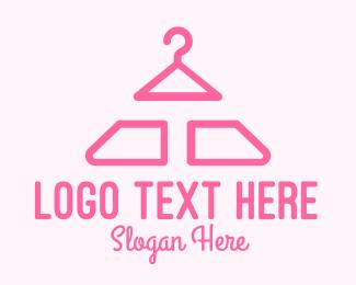 Gown - Pink Hanger Letter T logo design