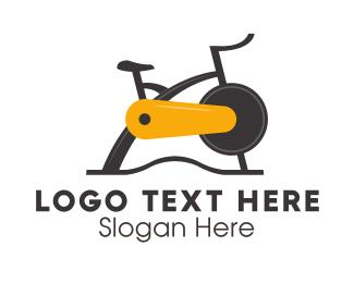 Exercise - Exercise Bike logo design