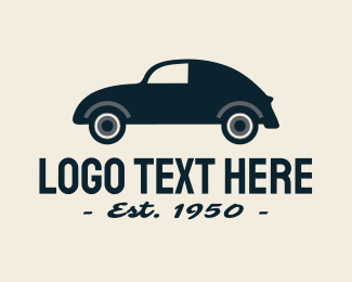 England - Vintage Car logo design