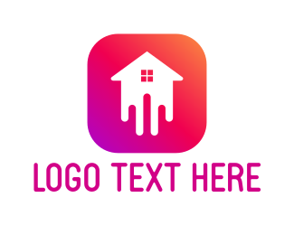 Real Estate - House Melt App logo design