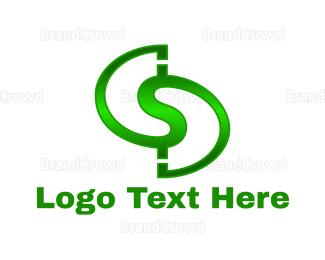 Currency - Green Letter S logo design