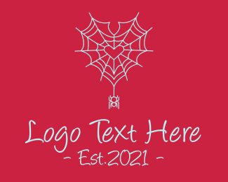 Spider - Romantic Spider Outline  logo design
