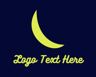 Banana - Crescent Moon  logo design