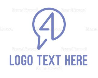 Messaging - Messaging Number 4 logo design