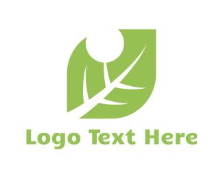 May - Bitten Leaf logo design