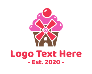 Treat - Cupcake Mill Bakery logo design
