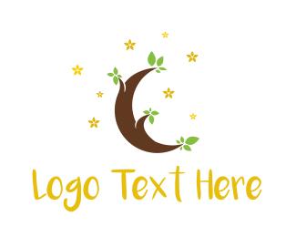 Branch - Moon Tree logo design
