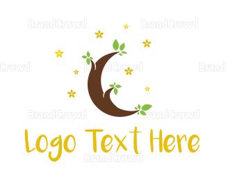 Biological - Moon Tree logo design