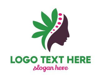 Female - Green Leaf Female logo design