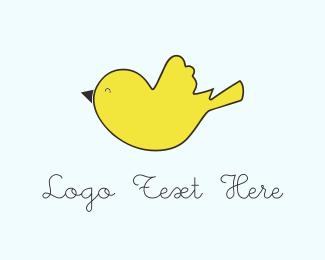 Chicken - Yellow Bird  logo design