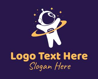 Child - Child Space Astronaut logo design
