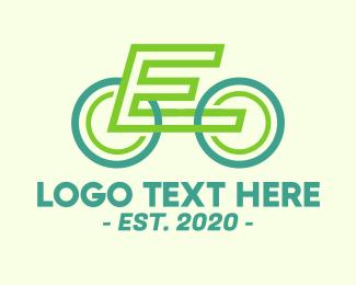 Bike Repair - Modern Biking Letter E logo design