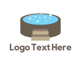 Pool And Spa - Hot Tub logo design