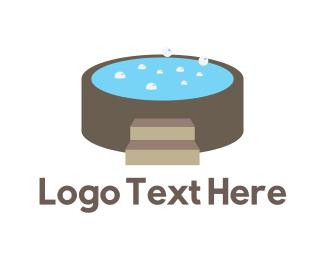 Hot - Hot Tub logo design
