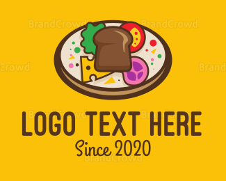 Italian Food - Bread Pizza logo design