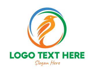 Song Bird - Colorful Bird  logo design
