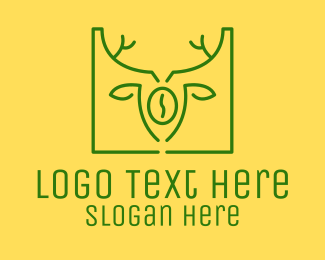 Brown Turtle - Green Organic Coffee logo design