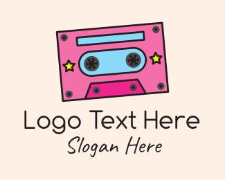 60s - Retro Cassette Tape logo design