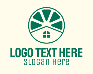 Home Improvement - Green Lime House logo design