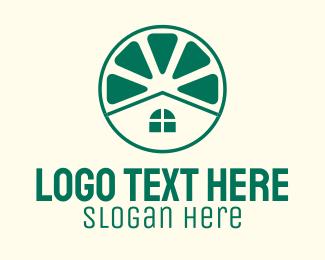 Renovation - Green Lime House logo design