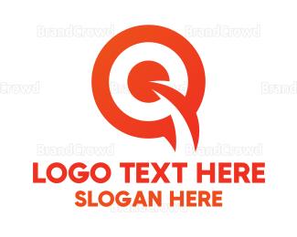 Retail - Orange Target Q logo design