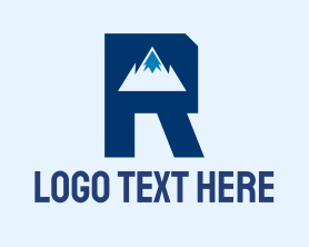 """""""Mountain Peak Letter R"""" by MDS"""