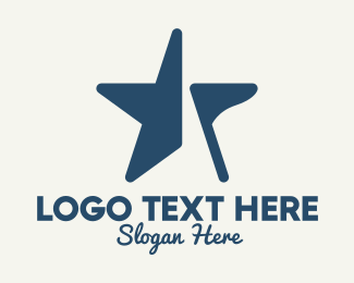 Blue And Grey - Blue Star Flag logo design