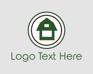 Tree House - Green Barn logo design