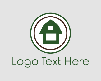 Farmhouse - Green Barn logo design