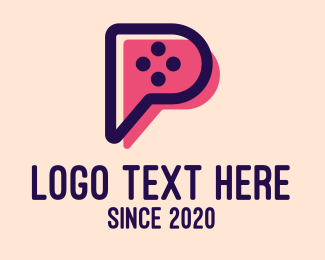 Video Game - Video Game Letter P logo design
