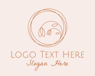 Shop - Flower Shop Scribble  logo design