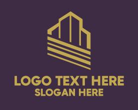 Town - Real Estate Building logo design