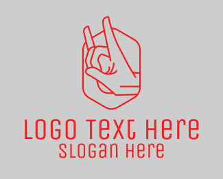 Music Licensing - Rock and Roll Hand logo design